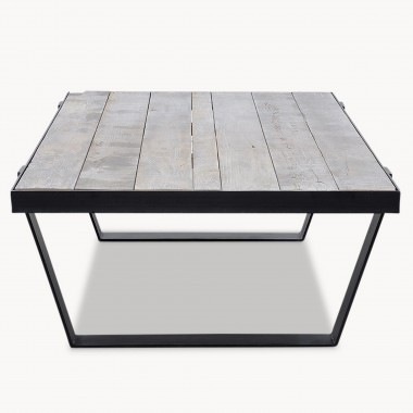 Kingswood Oak And Metal Coffee Table | One World