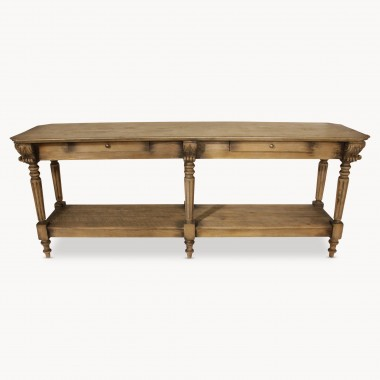 vintage sofa table. Woodcroft Vintage Oak Console Table With Drawers | One World Sofa
