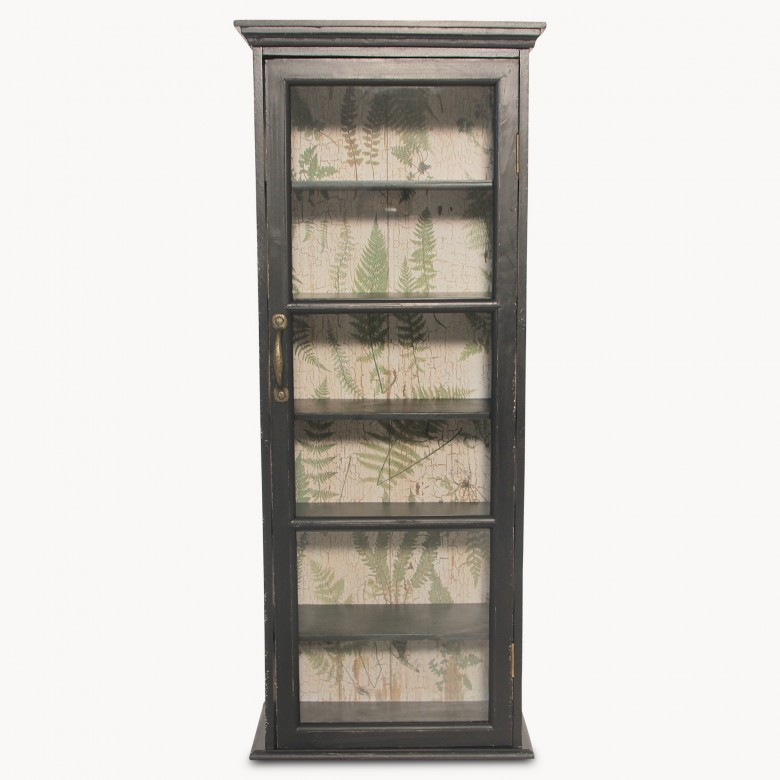 Brookby Black Glass Door Cabinet One World