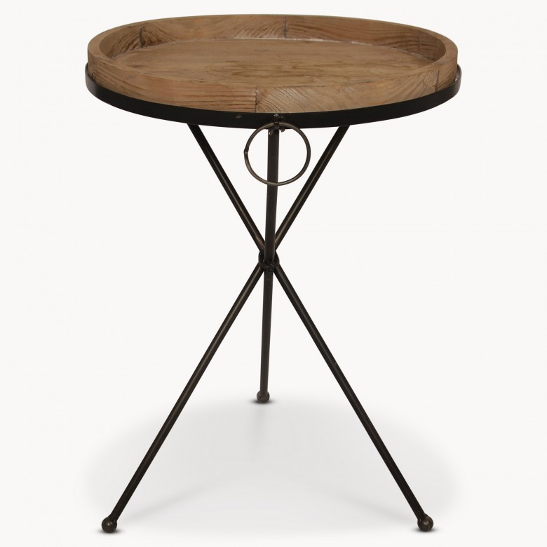 Granville Metal And Wood Side Table One World