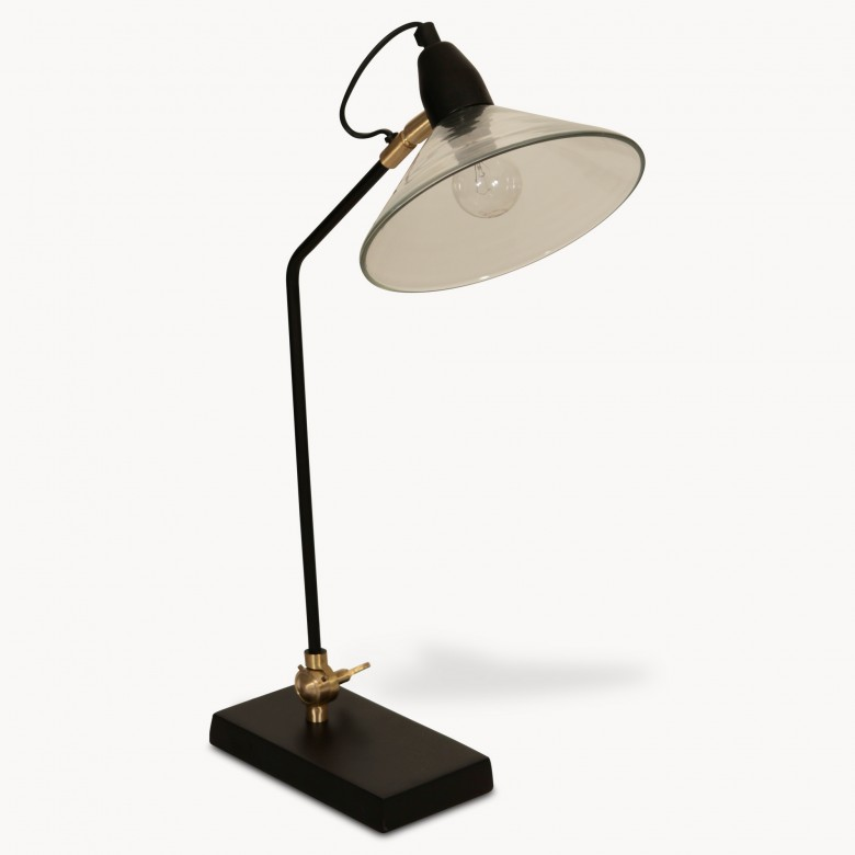Kenmore ajustable table lamp with glass shade one world mozeypictures Choice Image