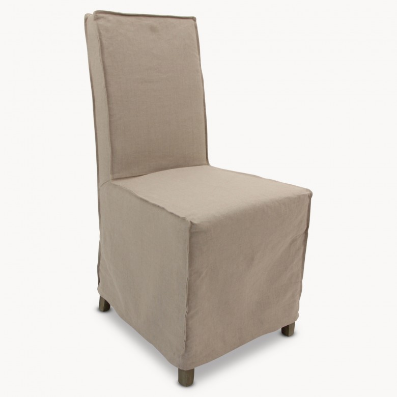 st james loose cover beige dining chair seating one world