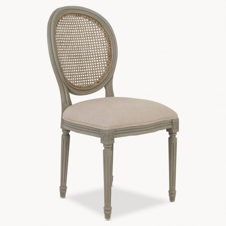 stanley french round wicker dining chair seating one world