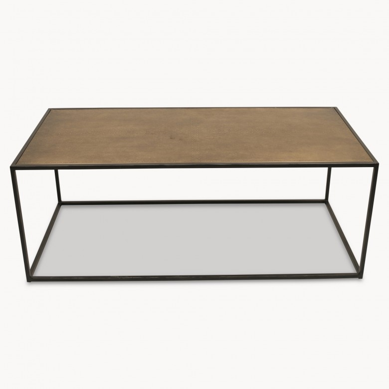 The Bloomin Couch Table For Two: Woodcroft Iron And Brass Coffee Table