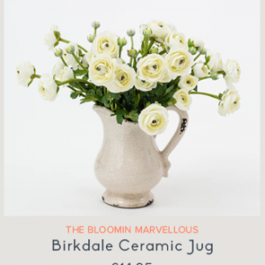 Ceramic Jug One World Flowers