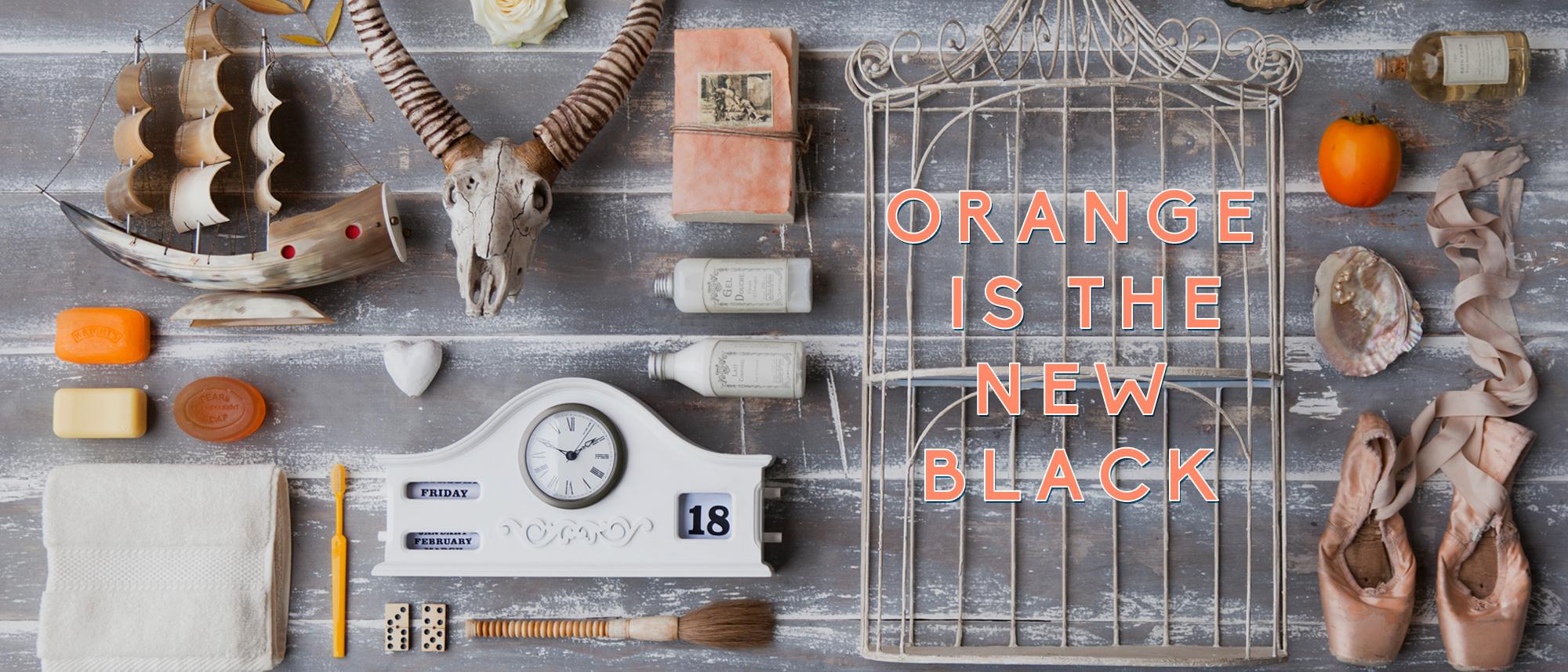 orange, interiors