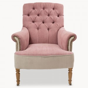 armchair, rose pink, living room