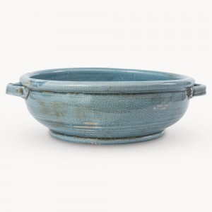 crackle glaze, bowl, blue