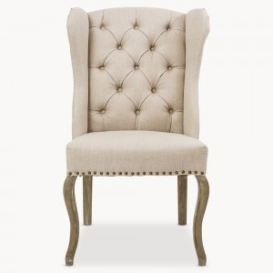 Button back chair, dining chair