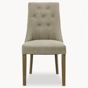dining chair, grey, button back