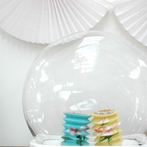 Cloche with paper lanterns