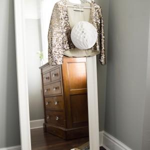 full length mirror against wall