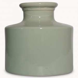birkdale green large crackle vase