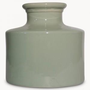 birkdale green large crackle vase
