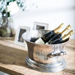 Champagne bucket with champagne