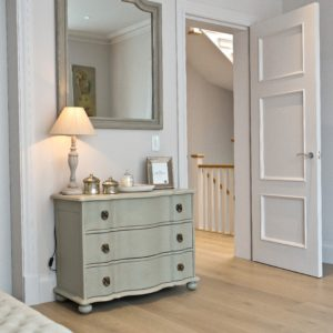 Bedroom chest of drawers and mirror