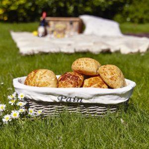 Bread rolls in bread basket