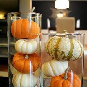 glass jar pumpkins