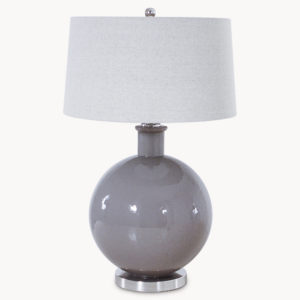 Grey table lamp
