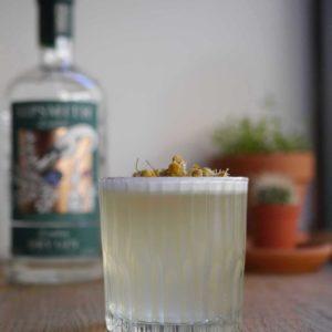 Chamomile-Gin-Fizz+cocktail