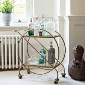 vintage style drinks trolley